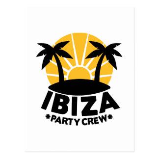 Ibiza Party Crew Postcard