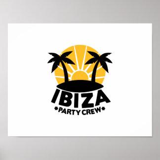 Ibiza Party Crew Poster