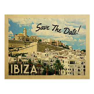 Ibiza Save The Date Vintage Spain Postcard