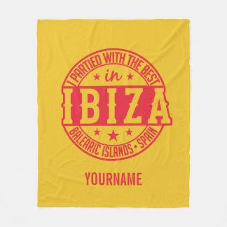 IBIZA Spain custom monogram & color fleece blanket
