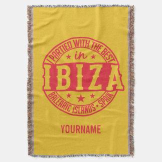 IBIZA Spain custom monogram & color throw blanket