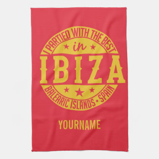IBIZA spain custom monogram hand towel