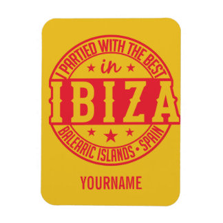 IBIZA Spain custom monogram magnet