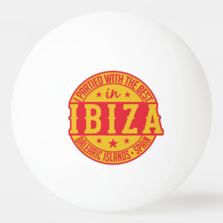 IBIZA Spain custom monogram ping pong ball