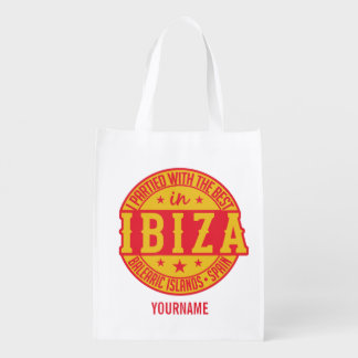 IBIZA Spain custom monogram reusable bag