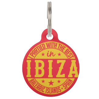 IBIZA Spain custom pet tag