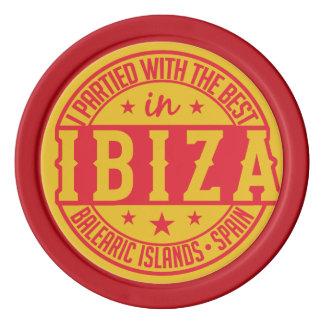 IBIZA Spain custom poker chips