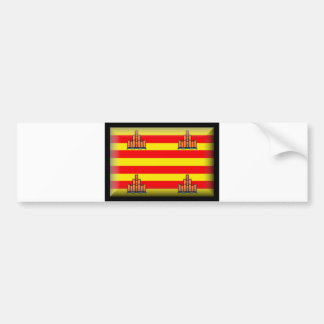 Ibiza Spain Flag Bumper Sticker