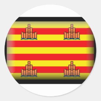 Ibiza Spain Flag Classic Round Sticker