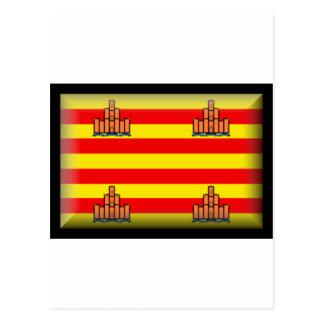 Ibiza Spain Flag Postcard