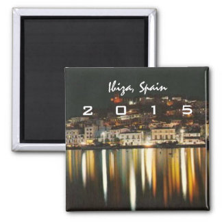 Ibiza Spain Nighttime Fridge Magnet Change Year