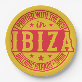 IBIZA Spain paper plates 9 Inch Paper Plate
