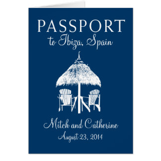 Ibiza Spain Passport Wedding Invitation