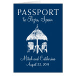 Ibiza Spain Passport Wedding Invitation Card