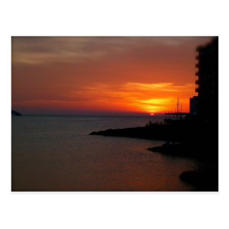Ibiza Sunset Postcard
