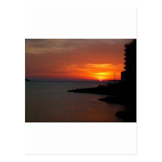 Ibiza Sunset Postcard
