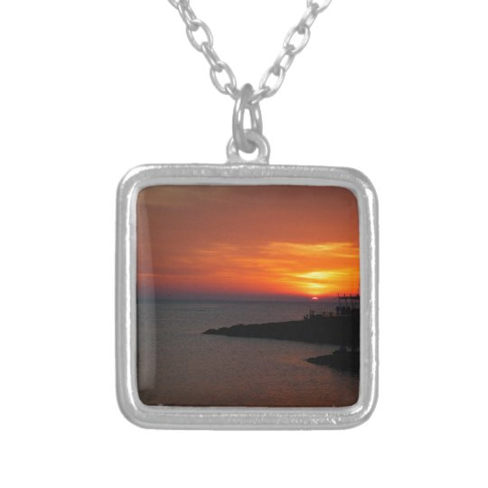 Ibiza Sunset Silver Plated Necklace