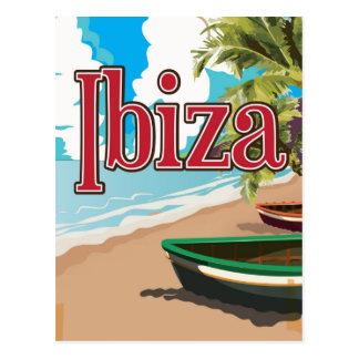 Ibiza vintage travel poster postcard