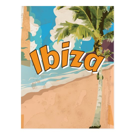 Ibiza Vintage vacation Poster Postcard