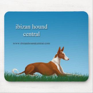 Ibizan Hound Central Mouse Mat