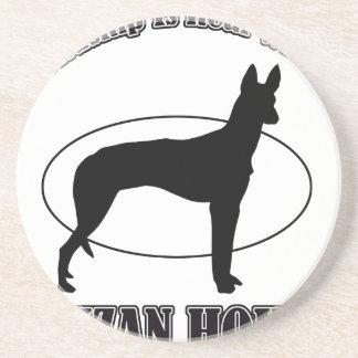 ibizan hound DOG DESIGNS Drink Coaster