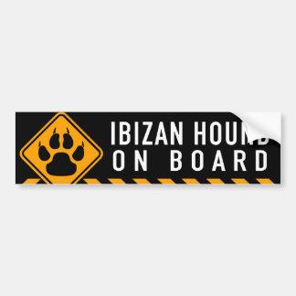 Ibizan Hound On Board Bumper Sticker