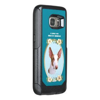 Ibizan Hound on Teal Floral OtterBox Samsung Galaxy S7 Case