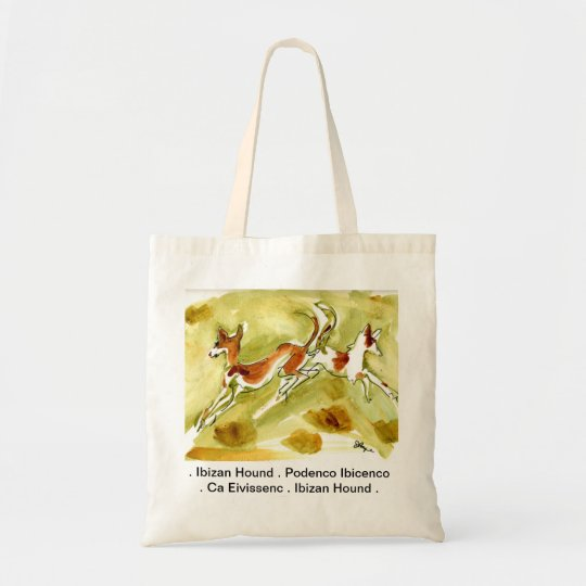 "Ibizan Podenco Ca Eivissenc Tote Bag ""Natural"""