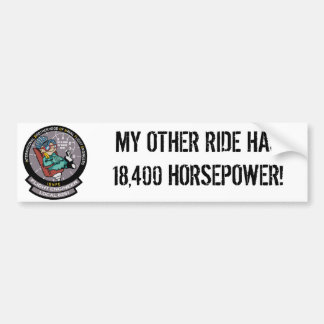 """IBNFE & """"MY OTHER RIDE..."""" Bumper Sticker"""
