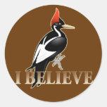 IBWO: I Believe Round Stickers