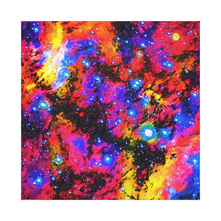 IC 4628 Prawn Nebula Modern Art Oil Painting Gallery Wrapped Canvas