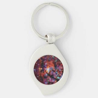 IC 4628 Prawn Nebula Silver-Colored Swirl Key Ring