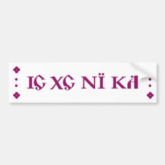 IC XC NI KA Orthodox bumper sticker purple