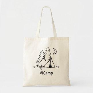 #Icamp camping tent Budget Tote Bag