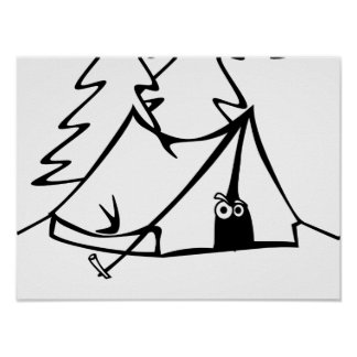 #Icamp camping tent Poster