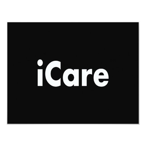 "iCARE 4.25"" X 5.5"" Invitation Card"