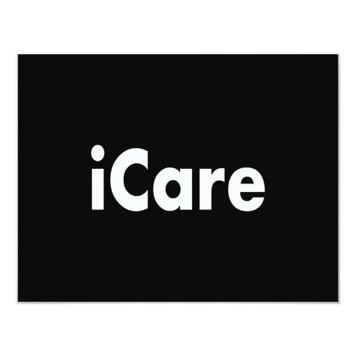 iCARE 4.25x5.5 Paper Invitation Card