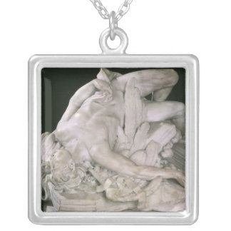 Icarus Falling, 1743 Silver Plated Necklace