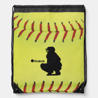iCatch Fastpitch Softball Drawstring Backpacks
