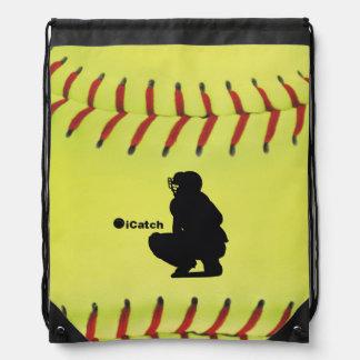 iCatch Fastpitch Softball Drawstring Backpacks