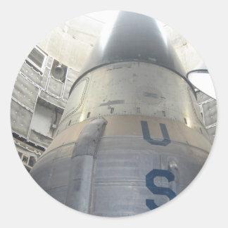ICBM Nuclear Round Sticker