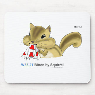 ICD-10: W53.21 Bitten by squirrel Mouse Mat