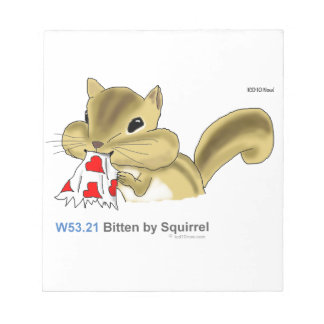 ICD-10: W53.21 Bitten by squirrel Notepad