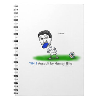 ICD-10: Y04.1 Assault by human bite Notebook