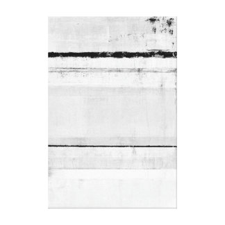 'Ice Age' Black and White Abstract Art Canvas Print