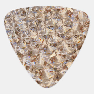 Ice Amber Diamond Crystals Bling Guitar Pick