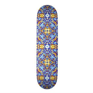 Ice and Gold Mandala Skateboard