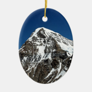 Ice and snow in the Swiss Alps Christmas Tree Ornament