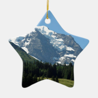 Ice and snow in the Swiss Alps Christmas Ornament