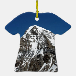 Ice and snow in the Swiss Alps Double-Sided T-Shirt Ceramic Christmas Ornament